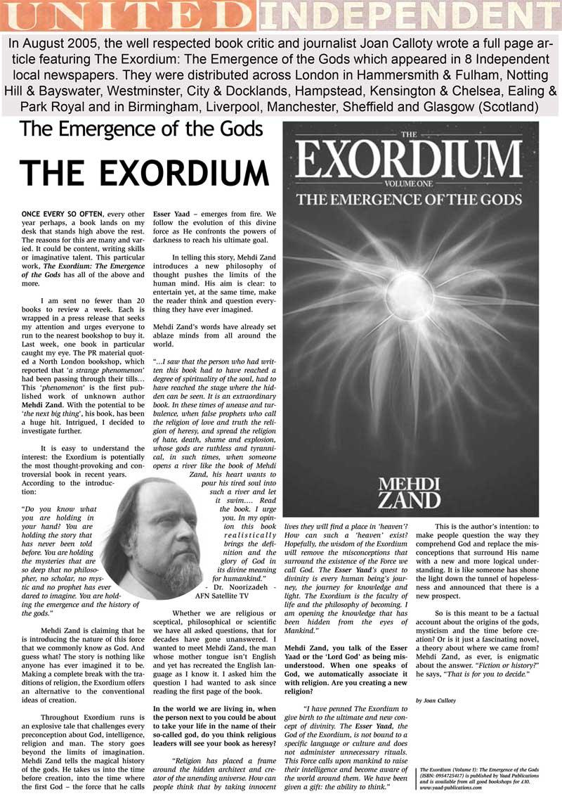 Mehdi zand - Exordium - Sefshin - Exordium -Philosophy-International-Federation