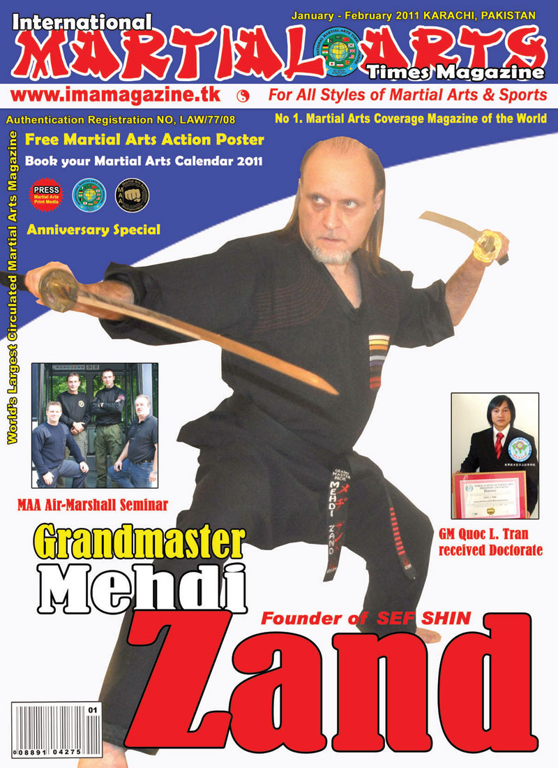 Front Cover and Interview with International Martial Arts Times Magazine