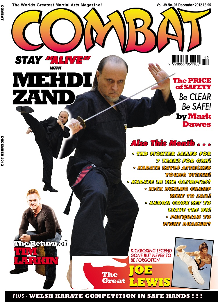 Grandmaster Mehdi Zand on the Cover of Combat Magazine