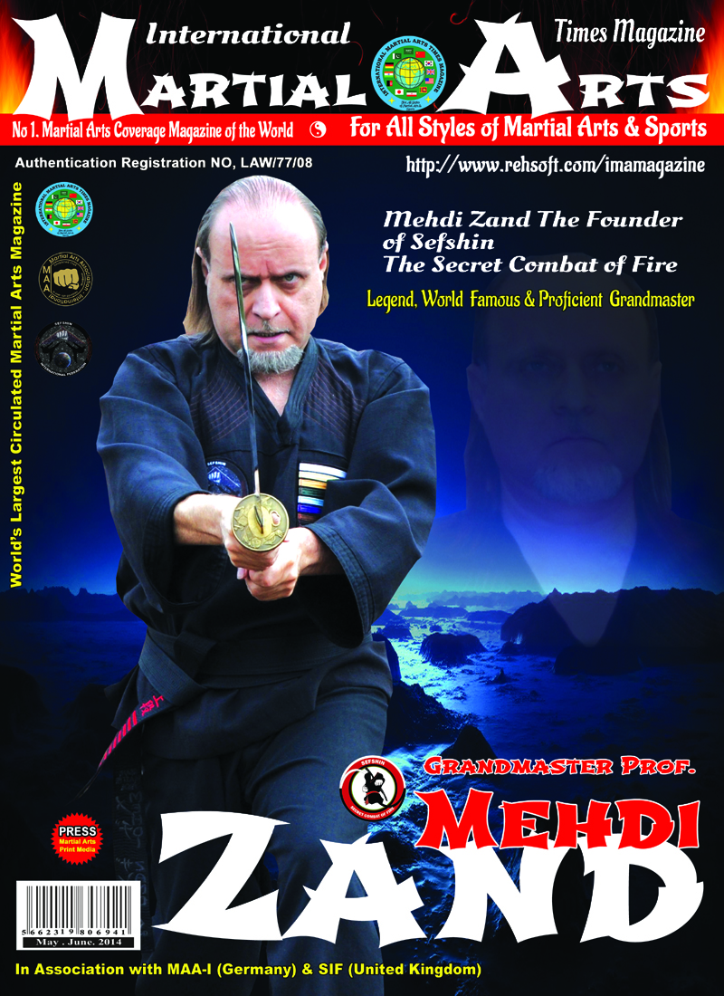 Grandmaster Mehdi Zand on the cover of IMATM