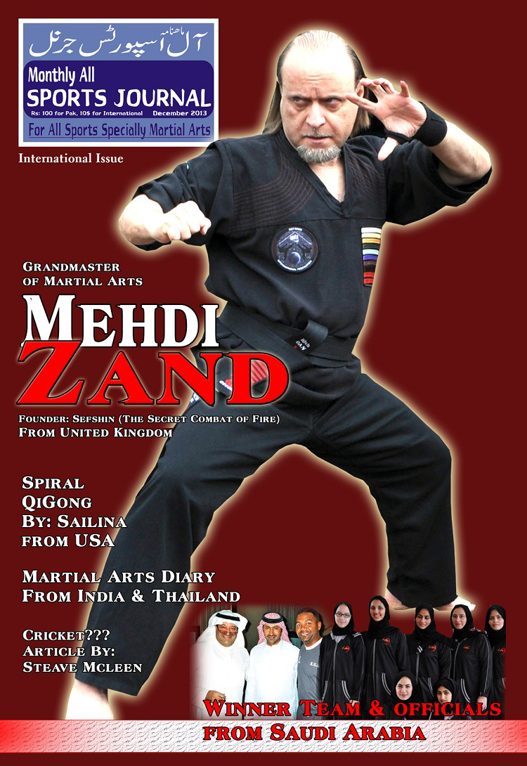 Grandmaster Mehdi Zand on the cover of All Sports Journal